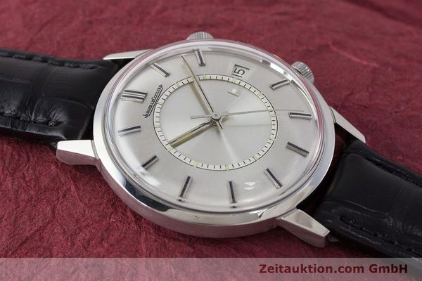Used luxury watch Jaeger Le Coultre Memovox steel manual winding Kal. 911  | 161302 13