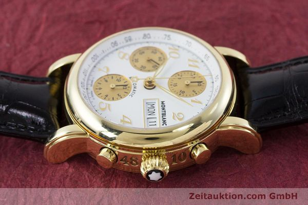 Used luxury watch Montblanc Meisterstück chronograph 18 ct gold automatic Kal. 4810501 ETA 7750 Ref. 7000  | 161304 05