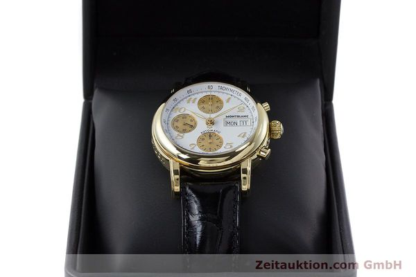 Used luxury watch Montblanc Meisterstück chronograph 18 ct gold automatic Kal. 4810501 ETA 7750 Ref. 7000  | 161304 07