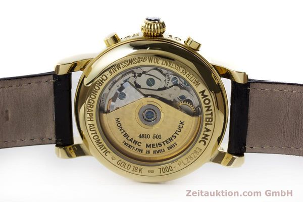 Used luxury watch Montblanc Meisterstück chronograph 18 ct gold automatic Kal. 4810501 ETA 7750 Ref. 7000  | 161304 08