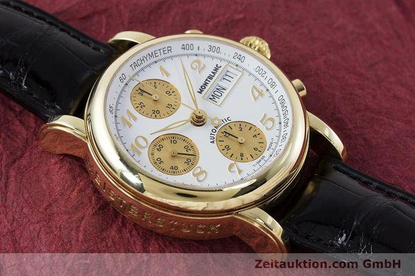 Used luxury watch Montblanc Meisterstück chronograph 18 ct gold automatic Kal. 4810501 ETA 7750 Ref. 7000  | 161304 15