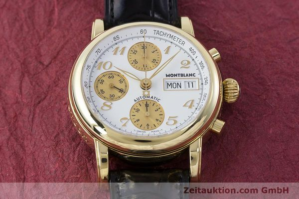Used luxury watch Montblanc Meisterstück chronograph 18 ct gold automatic Kal. 4810501 ETA 7750 Ref. 7000  | 161304 16
