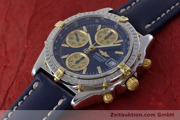 Used luxury watch Breitling Chronomat chronograph steel / gold automatic Kal. ETA 7750  | 161309 01