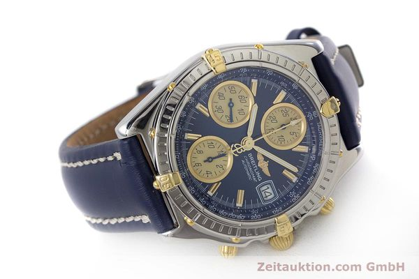 Used luxury watch Breitling Chronomat chronograph steel / gold automatic Kal. ETA 7750  | 161309 03