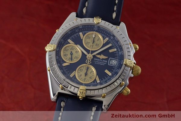 Used luxury watch Breitling Chronomat chronograph steel / gold automatic Kal. ETA 7750  | 161309 04