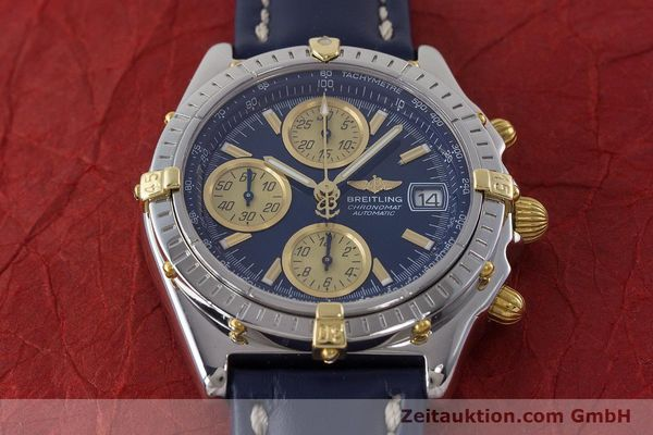 Used luxury watch Breitling Chronomat chronograph steel / gold automatic Kal. ETA 7750  | 161309 15