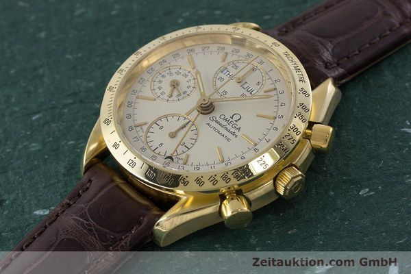 Used luxury watch Omega Speedmaster chronograph 18 ct gold automatic Kal. 1150  | 161310 01