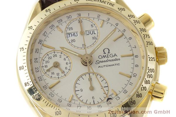 Used luxury watch Omega Speedmaster chronograph 18 ct gold automatic Kal. 1150  | 161310 02