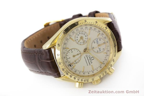 Used luxury watch Omega Speedmaster chronograph 18 ct gold automatic Kal. 1150  | 161310 03