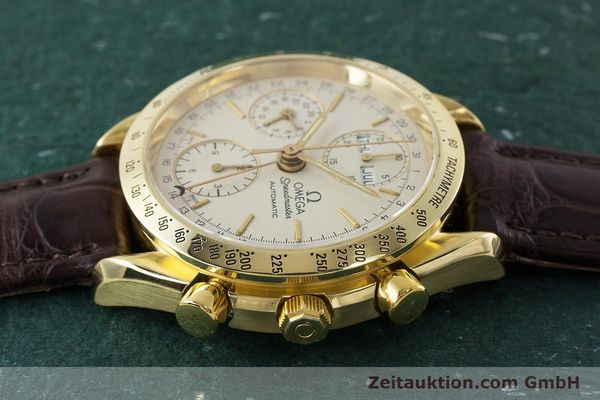 Used luxury watch Omega Speedmaster chronograph 18 ct gold automatic Kal. 1150  | 161310 05