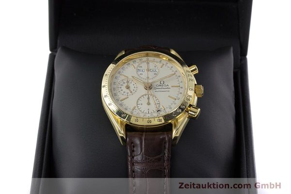 Used luxury watch Omega Speedmaster chronograph 18 ct gold automatic Kal. 1150  | 161310 07