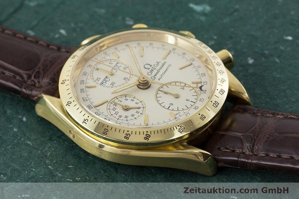 Used luxury watch Omega Speedmaster chronograph 18 ct gold automatic Kal. 1150  | 161310 13
