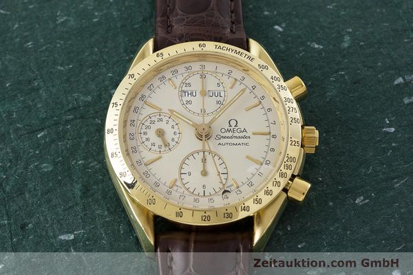 Used luxury watch Omega Speedmaster chronograph 18 ct gold automatic Kal. 1150  | 161310 14