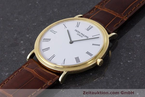 Used luxury watch Patek Philippe Calatrava 18 ct gold manual winding Kal. 175 Ref. 3520 10  | 161315 01