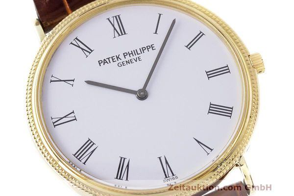 Used luxury watch Patek Philippe Calatrava 18 ct gold manual winding Kal. 175 Ref. 3520 10  | 161315 02