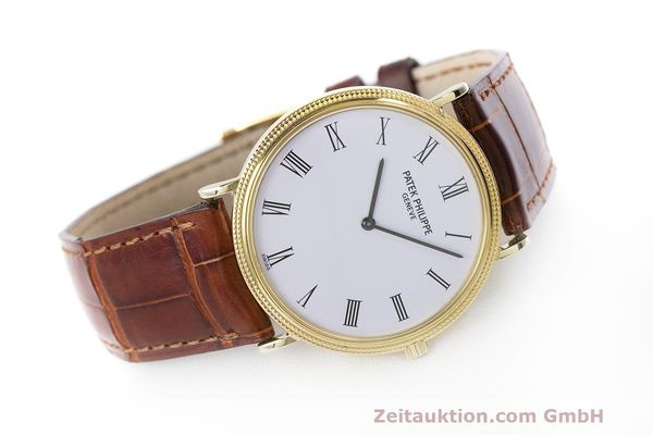 Used luxury watch Patek Philippe Calatrava 18 ct gold manual winding Kal. 175 Ref. 3520 10  | 161315 03