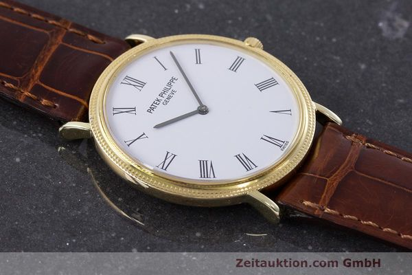Used luxury watch Patek Philippe Calatrava 18 ct gold manual winding Kal. 175 Ref. 3520 10  | 161315 15