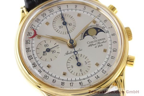 Used luxury watch Chronoswiss A. Rochat chronograph gold-plated automatic Kal. Valj.  7750 Ref. 77990  | 161318 02
