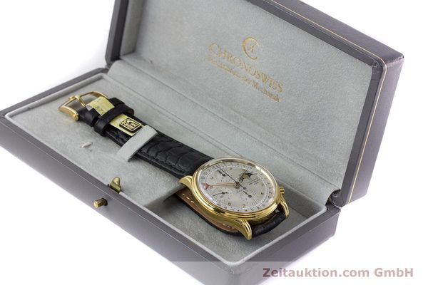 Used luxury watch Chronoswiss A. Rochat chronograph gold-plated automatic Kal. Valj.  7750 Ref. 77990  | 161318 07