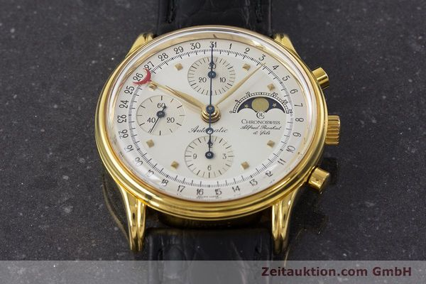 Used luxury watch Chronoswiss A. Rochat chronograph gold-plated automatic Kal. Valj.  7750 Ref. 77990  | 161318 17
