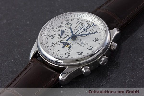Used luxury watch Longines Master Collection chronograph steel automatic Kal. L678.2 Ref. L2.673.4  | 161322 01