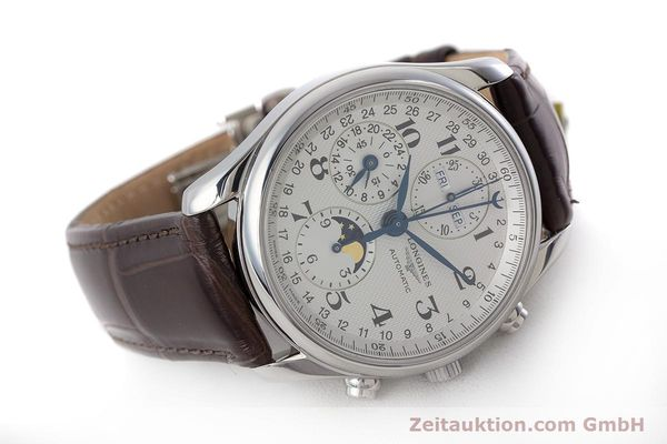 Used luxury watch Longines Master Collection chronograph steel automatic Kal. L678.2 Ref. L2.673.4  | 161322 03