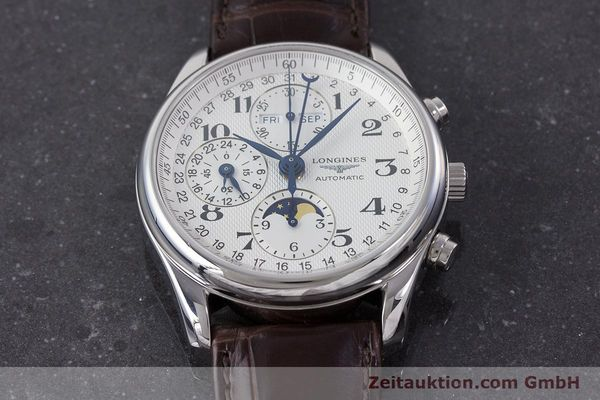 Used luxury watch Longines Master Collection chronograph steel automatic Kal. L678.2 Ref. L2.673.4  | 161322 19