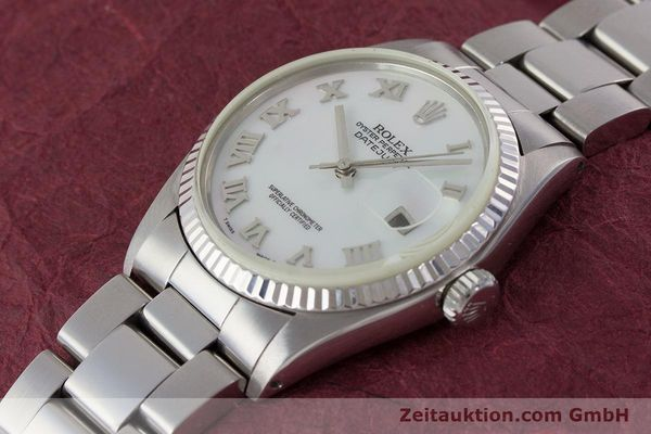 Used luxury watch Rolex Datejust steel / white gold automatic Kal. 3035 Ref. 16013  | 161329 01