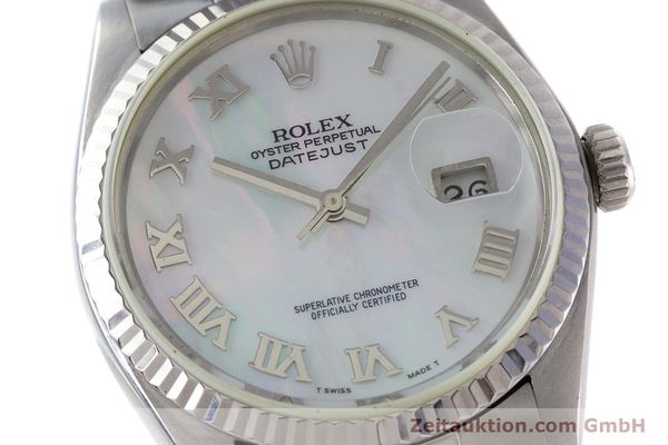 Used luxury watch Rolex Datejust steel / white gold automatic Kal. 3035 Ref. 16013  | 161329 02