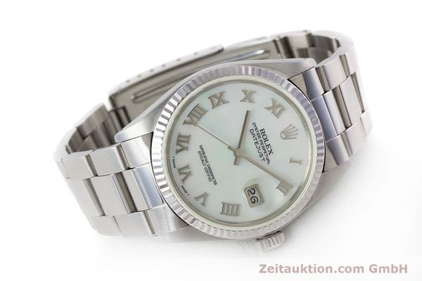 Used luxury watch Rolex Datejust steel / white gold automatic Kal. 3035 Ref. 16013  | 161329 03