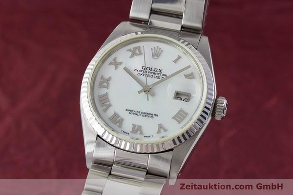 ROLEX DATEJUST STEEL / WHITE GOLD AUTOMATIC KAL. 3035 LP: 6350EUR [161329]