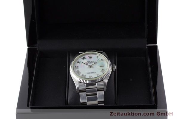 Used luxury watch Rolex Datejust steel / white gold automatic Kal. 3035 Ref. 16013  | 161329 07