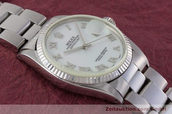 Used luxury watch Rolex Datejust steel / white gold automatic Kal. 3035 Ref. 16013  | 161329 14