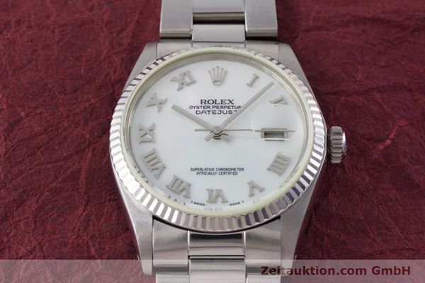 Used luxury watch Rolex Datejust steel / white gold automatic Kal. 3035 Ref. 16013  | 161329 15