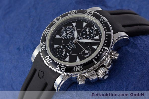 Used luxury watch Montblanc Sport Chronograph chronograph steel automatic Kal. 4810501 ETA 7750 Ref. 7034  | 161330 01