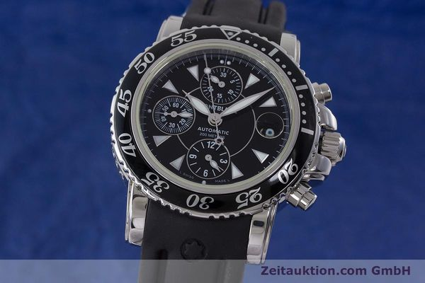Used luxury watch Montblanc Sport Chronograph chronograph steel automatic Kal. 4810501 ETA 7750 Ref. 7034  | 161330 04