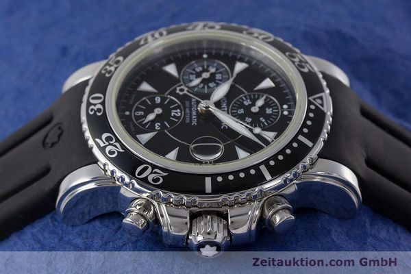 Used luxury watch Montblanc Sport Chronograph chronograph steel automatic Kal. 4810501 ETA 7750 Ref. 7034  | 161330 05