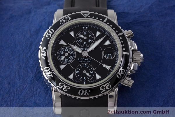 Used luxury watch Montblanc Sport Chronograph chronograph steel automatic Kal. 4810501 ETA 7750 Ref. 7034  | 161330 15