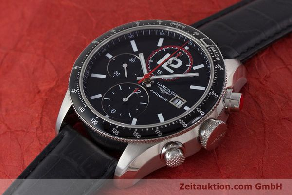 Used luxury watch Longines Grande Vitesse chronograph steel automatic Kal. L667.2 ETA 7750 Ref. L3.636.4  | 161332 01