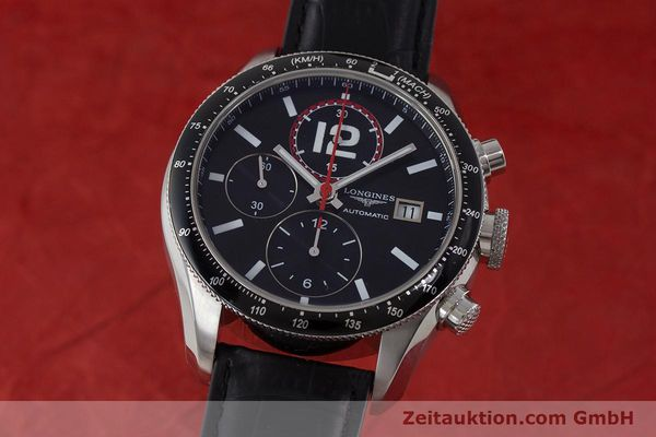 Used luxury watch Longines Grande Vitesse chronograph steel automatic Kal. L667.2 ETA 7750 Ref. L3.636.4  | 161332 04