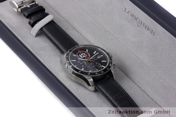 Used luxury watch Longines Grande Vitesse chronograph steel automatic Kal. L667.2 ETA 7750 Ref. L3.636.4  | 161332 07