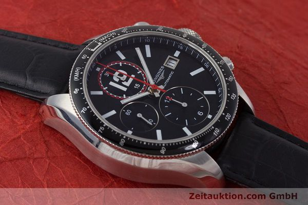 Used luxury watch Longines Grande Vitesse chronograph steel automatic Kal. L667.2 ETA 7750 Ref. L3.636.4  | 161332 16