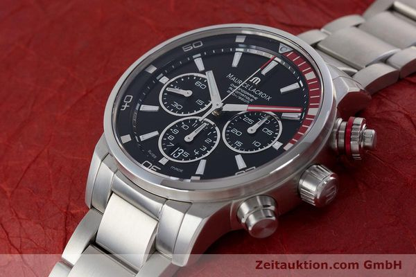 Used luxury watch Maurice Lacroix Pontos chronograph steel automatic Kal. ML157 ETA 7753 Ref. PT6019  | 161336 01