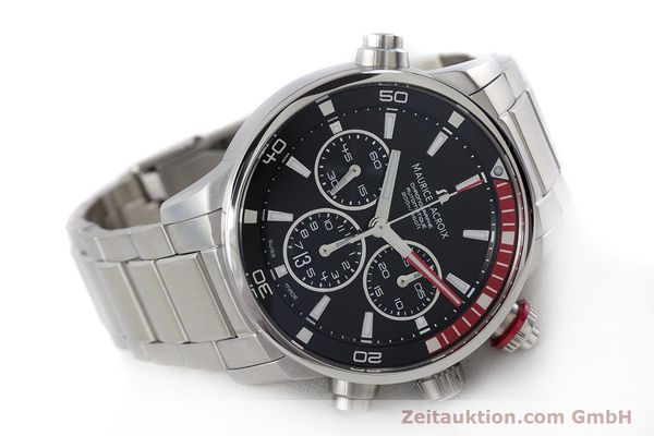 Used luxury watch Maurice Lacroix Pontos chronograph steel automatic Kal. ML157 ETA 7753 Ref. PT6019  | 161336 03