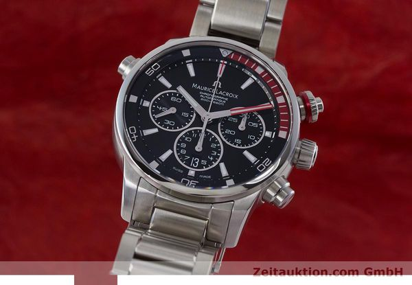 Used luxury watch Maurice Lacroix Pontos chronograph steel automatic Kal. ML157 ETA 7753 Ref. PT6019  | 161336 04