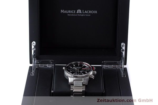 Used luxury watch Maurice Lacroix Pontos chronograph steel automatic Kal. ML157 ETA 7753 Ref. PT6019  | 161336 07