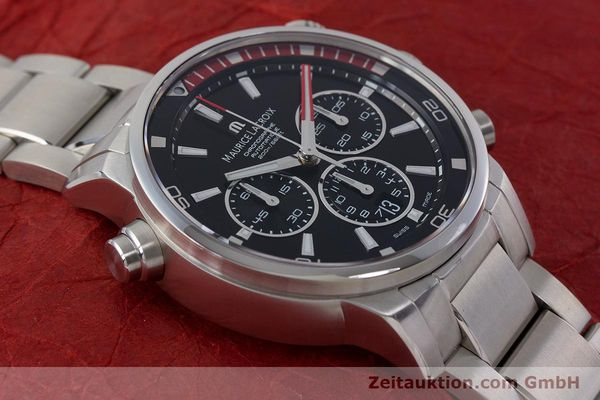 Used luxury watch Maurice Lacroix Pontos chronograph steel automatic Kal. ML157 ETA 7753 Ref. PT6019  | 161336 17