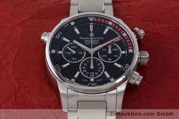 Used luxury watch Maurice Lacroix Pontos chronograph steel automatic Kal. ML157 ETA 7753 Ref. PT6019  | 161336 18