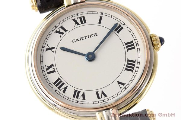 Used luxury watch Cartier * 18 ct gold quartz Kal. 81  | 161345 02