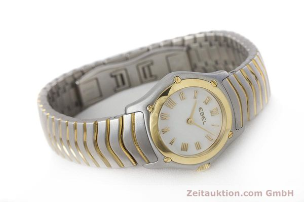 Used luxury watch Ebel Classic Wave steel / gold quartz Kal. 157 Ref. 1157F11  | 161365 03